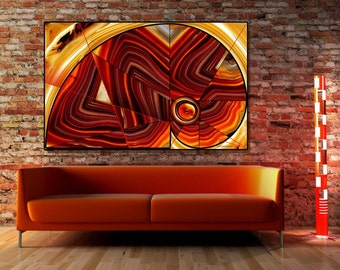"Acrylic Print -""Agate 01"" -Contemporary Abstract Photography, Nature inspired Abstract, Geometric Abstract, Modern Art"