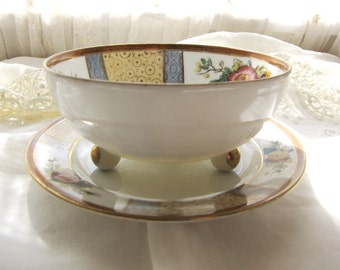 Antique Noritake Bowl and Plate Fine Bone China from AllieEtCie