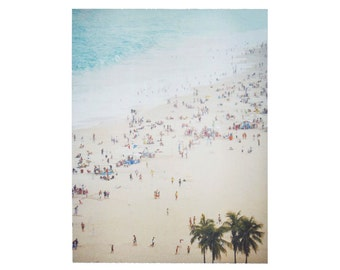 Beach Art Print Polaroid Surf Brazil Watercolor 11x14 inch