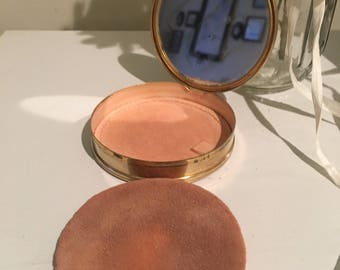 Timeless Beauty and Elegance For Vintage Girl with a Touch of Class Brass Powder Compact. Full of history and ready for a new life!