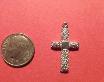 Fifty Pewter Cross Charms