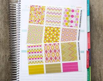 9 full box sticker, square sticker, planner stickers, scrapbook reminder, geometric notebook agenda journal eclp filofax happy planner