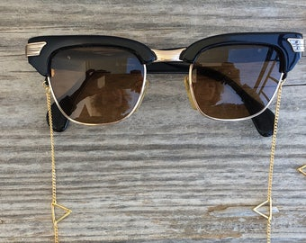 Bonk Ibiza sunglass cords made of 22k gold or silver plated chain