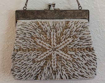 Vintage Mid Century Beaded Purse Made in Hong Kong