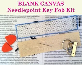 Key Fob Needlepoint Kit – Blank canvas