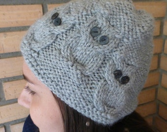"Knitting hat pattern ""3 little owls"", to straight needles and circular needles. Instant Download"