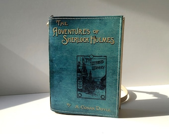 The Adventures of Sherlock Holmes Book Bag Arthur Conan Doyle Book Purse
