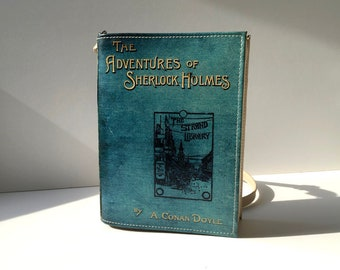 The Adventures of Sherlock Holmes Book Clutch Arthur Conan Doyle Book Clutch