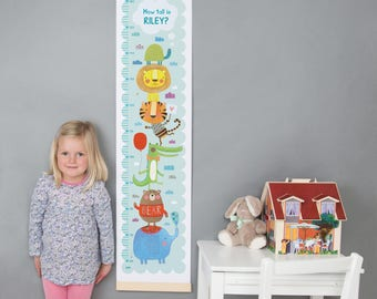 Personalised Animal Height Chart