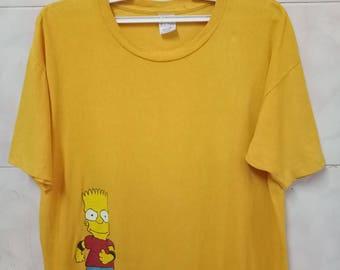 Vintage 90s BART SIMPSON Roller Bart Matt Groening tee t-shirt