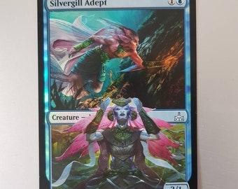 Mtg Silvergill Adept Foil Altered - Mtg Peel Alter