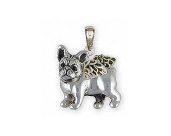 French Bulldog Jewelry Sterling Silver French Bulldog Pendant Handmade Frenchie Jewelry FR31-AP