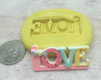 Love Word Silicone Mold