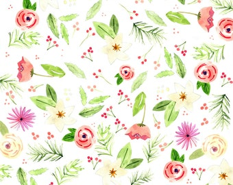Wrapping paper pink cane holiday floral wrapping paper mightylinksfo