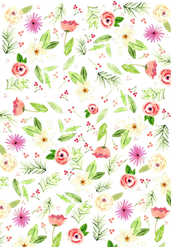 Holiday floral wrapping paper mightylinksfo