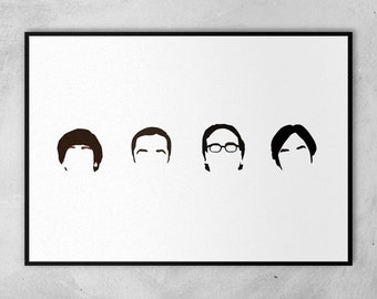 The Big Bang Theory | Jim Parsons | Johnny Galecki | Kunal Nayyar | Simon Helberg | Minimal Artwork Poster