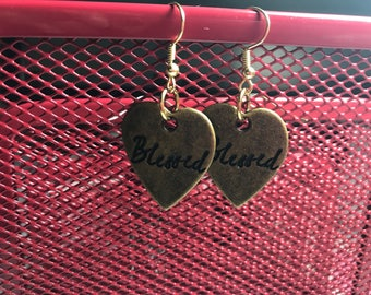 Blessed Dangle Earrings Beautiful Gift for Her