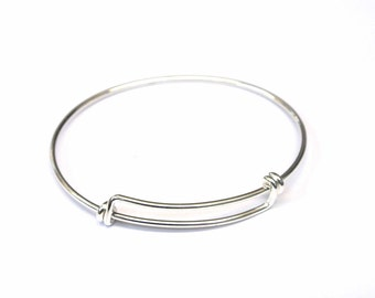silver original product personalised bangles bangle charm sterling disc by hurleyburley
