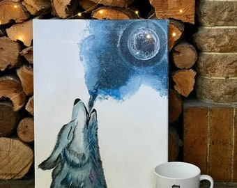 Wolf Painting Canvas