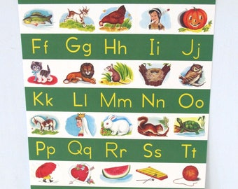 Vintage Alphabet Poster by writeables