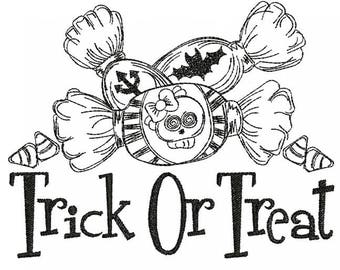 Trick or Treat - Machine Embroidery Design