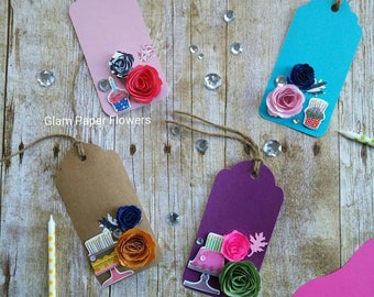 Birthday Cake Gift Tags Set of 3 unique Tags