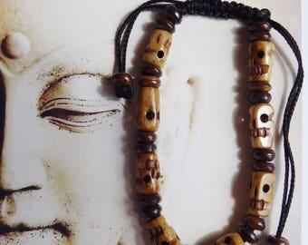 Bracelet Nepalese yak bone beads