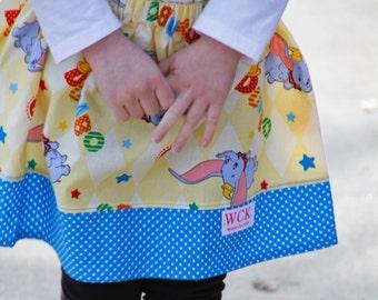 Disney inspired Dumbo  Skirt (18 mos, 24 mos,  2T, 3T, 4T, 5 ,6, 7)