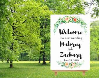 Welcome wedding sign, printable wedding sign, welcome to our wedding sign, large wedding sign, printable boho wedding sign