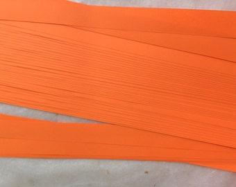 "5/8"" 3/4"" 1"" Weaving Star Paper~ Bright Orange (50 strips)"