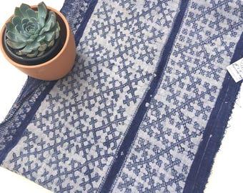 Shibori, Indigo blue Boho Fabric, Chinese Hemp Fabric