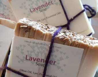 Hand Crafted LAVENDER  Artesian Soap/ All Natural/ Olive Oil/ Essential Oils/ Gentle/ All skin types