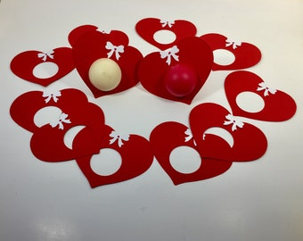 12 EOS bridal shower lip balm holders red,EOS wedding favor,EOS wedding shower,lip balm holder,hearts,shower supply,