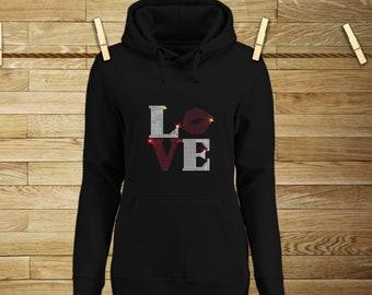 LOVE Hoodie Sweater / Womens Sweater / Hoodie / Fashion Sweater / Original Gift Idea / Trendy Sweaters / Trendy Hoodies    Sweatshirt
