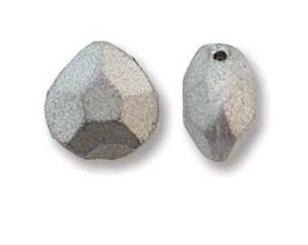 Briolette Beads - 9mm x 10mm Bronze Aluminum (15) Czech Glass