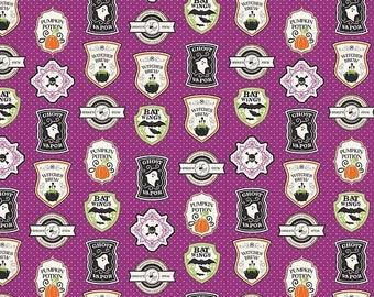 extra15 30% OFF  Riley Blake Designs Eek Boo Shriek Purple Badge
