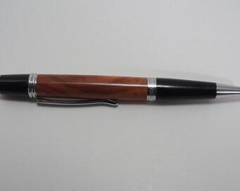 pen, ballpoint, carob, chrome