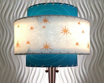 Mid  Century Modern Style Fiberglass Lamp Shade Atomic Lighting 3T-58.0