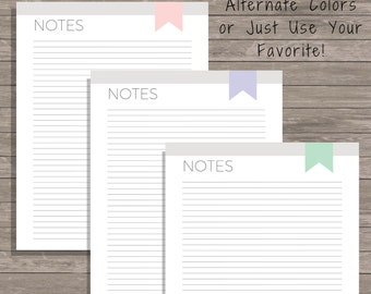 Notes Printable - Notes Planner - Notes Page Printable - Printable To Do List - Notes Planner Page - Printable Planner - Notes Insert