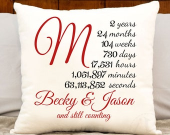 2 year anniversary cotton gift - two year personalized anniversary gift - cotton gift - two year anniversary gift- second year monogrammed