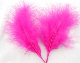 Set of 5 gorgeous colours fuschia feathers