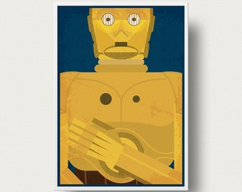 Star wars Poster 3CPO droid poster art Print Movie Star Wars robot movie poster Star Wars movie star wars movie poster Return of the jedi