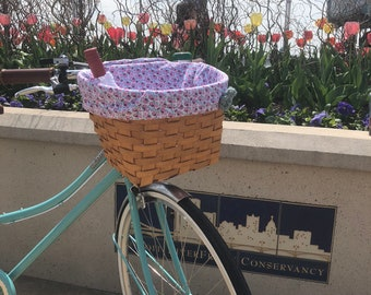 Flower Basket Liner with Wine Pocket