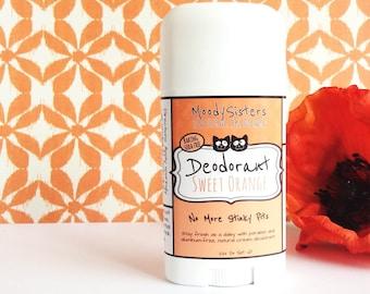 Baking soda free Sweet Orange Organic Deodorant - Natural Vegan Deodorant -  Organic Citrus Natural Deodorant