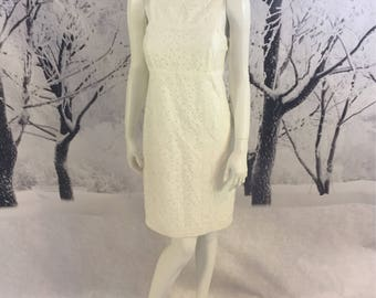 Ivory Lace Max Studio Sundress Ladies Large Great Designer Neckline Max Specialty Products Cotton Blend