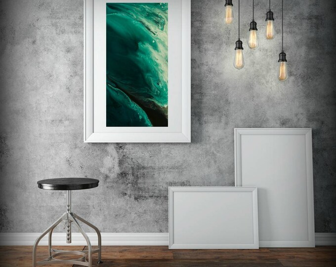 Abstract Wall Art Print, Abstract Print, Green Minimalist Painting, Modern Art Home Room Decor, Minimalist Wall Art