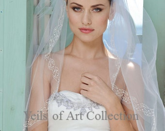 Wholesale 10  beaded veils for a Bridal Boutique/Store