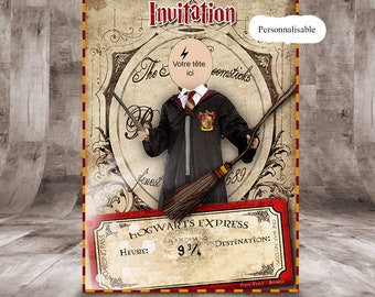 "To customize ""14 x 10"" birthday card, Harry Potter Theme"