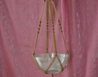 """Hand Crafted Macrame Plant Hanger - Chocolate 35"""""""