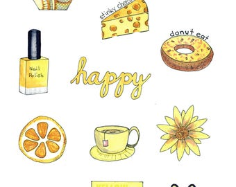 photo relating to Aesthetic Printable Stickers identify Excellent of Yellow Aesthetic Stickers Printable - wallpaper